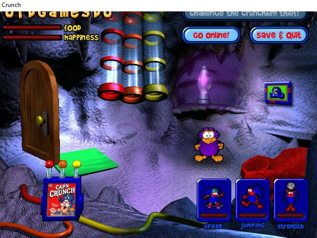 captain crunch crunchling adventure game