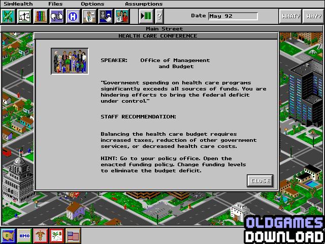 SimHealth DOS
