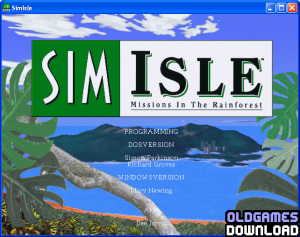 SimIsle: Missions in the Rainforest Windows